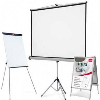 Projection screens and white boards